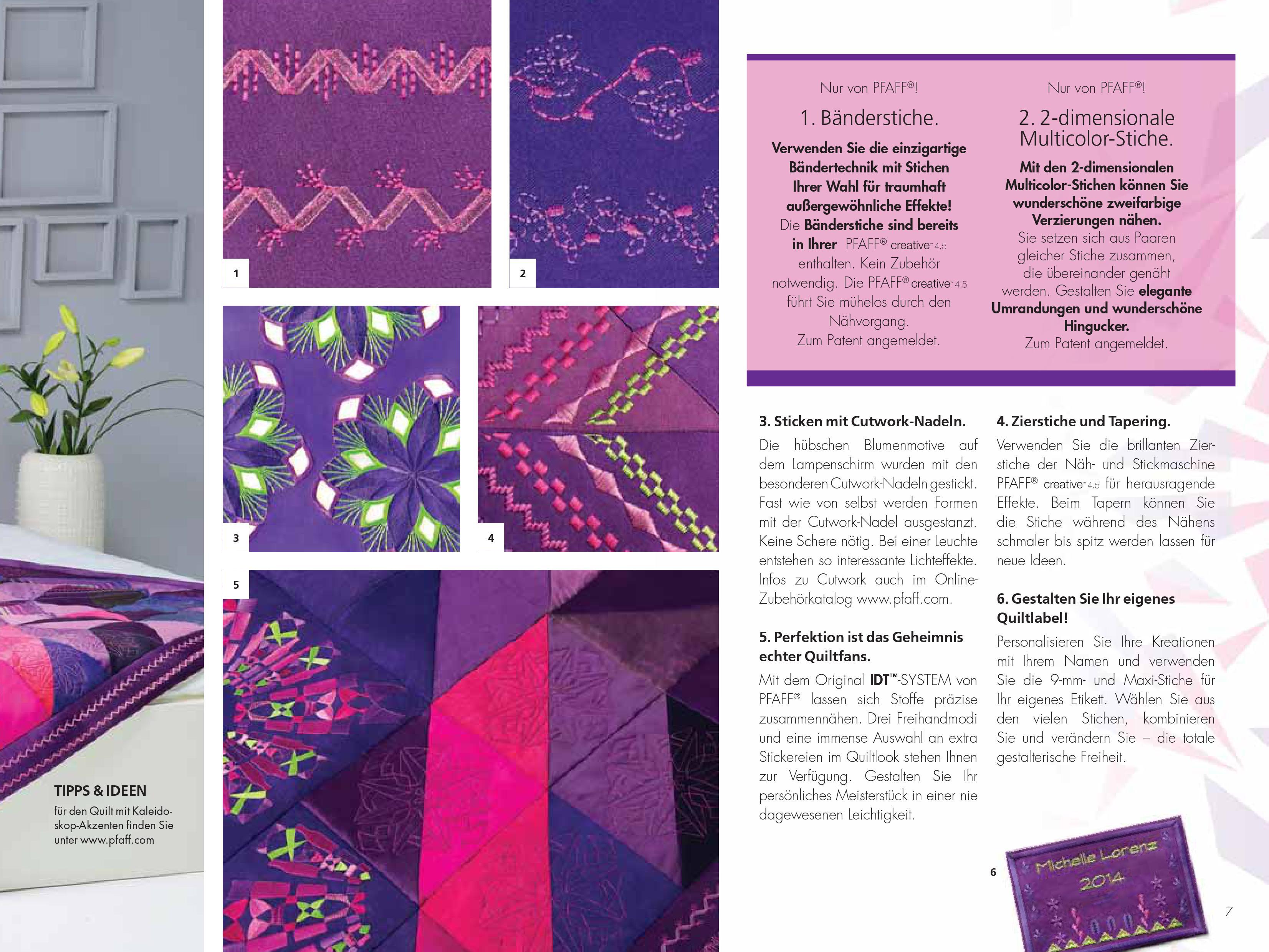 pfaff creative 4 5 inkl stickeinheit n hmaschinen scherf. Black Bedroom Furniture Sets. Home Design Ideas
