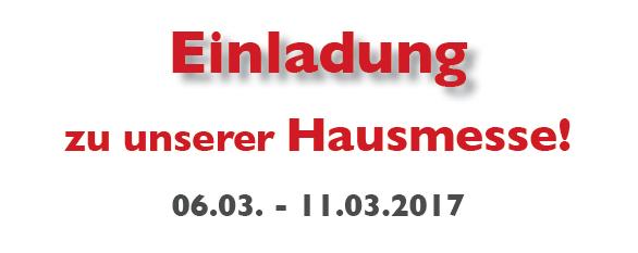 Einladung zur Hausmesse bei Nähmaschinen Scherf 2017