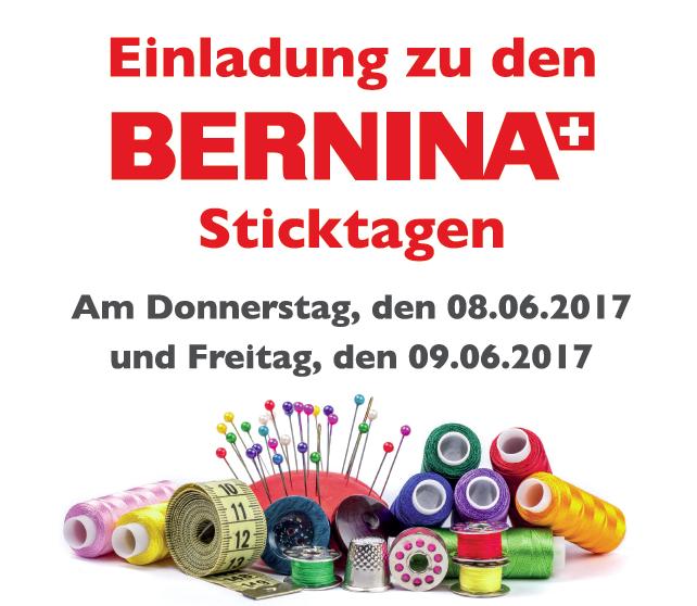 Bernina Stickmaschinen Sticktage