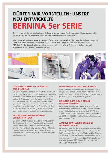 Bernina 570 Nähmaschine Beschreibung