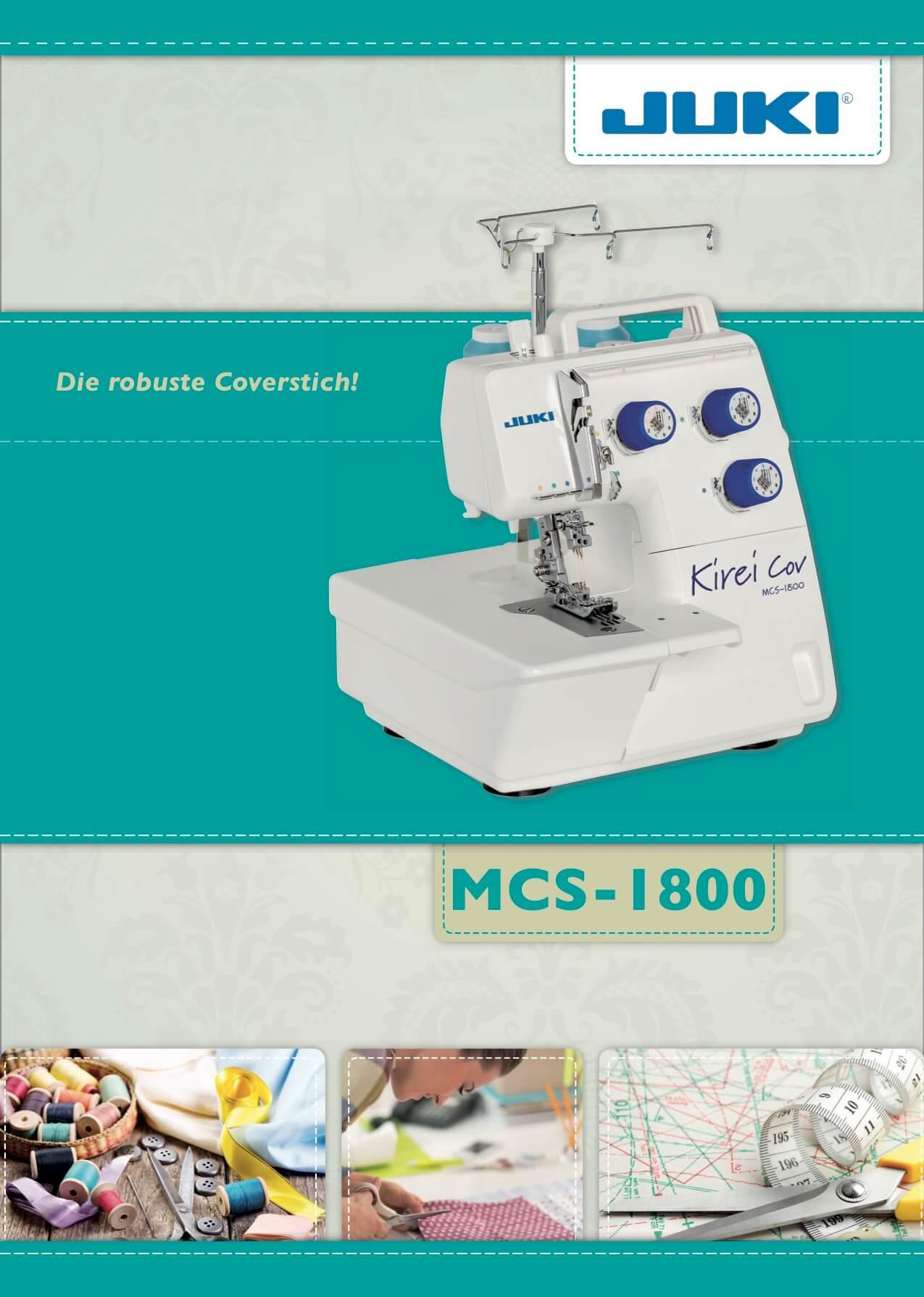 JUKI Coverlock Kirei MCS_1800 Prospekt Seite 1