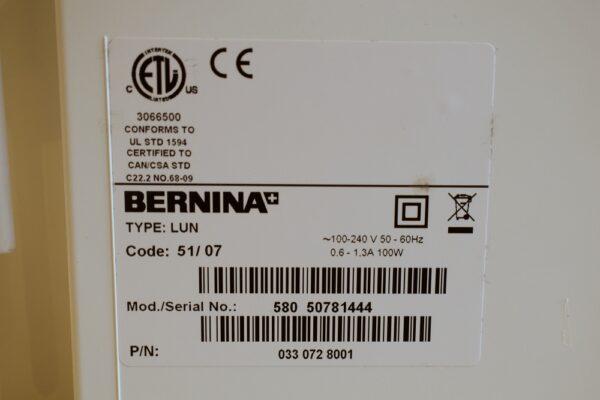 Bernina B 580 Seriennummer