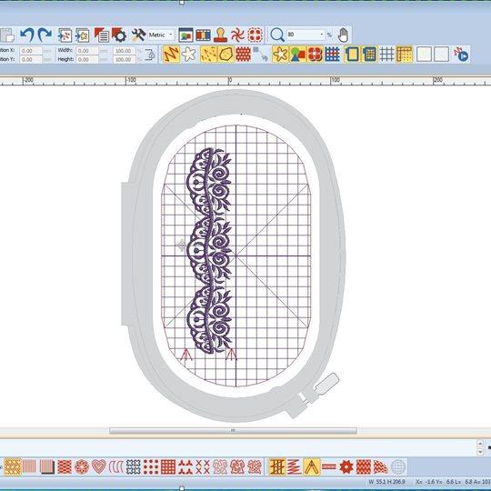 Bernina Sticksoftware Positionierung