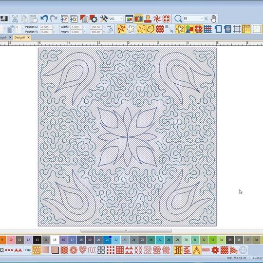 Bernina Sticksoftware Quilt Block