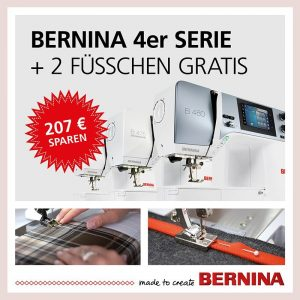 Bernina Promotion 4er Serie Naehmaschinen