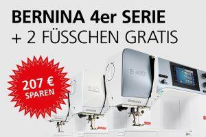 Bernina Promotion Naehmaschinen 4er Serie