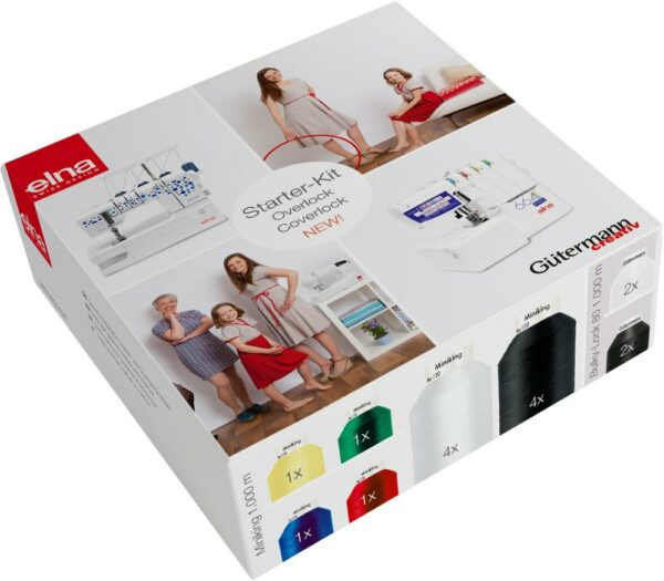 Garnpaket Starter Box Elna Coverlock