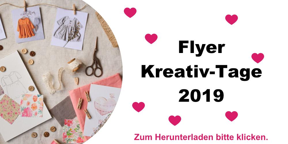 Kreativ-Tage 2019 Einladung bei Nähmaschinen Scherf