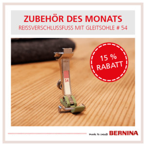 Bernina Angebot #54 Reissverschlussfuss