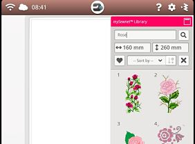 mySewnet Library Screenshot - Search for Roses