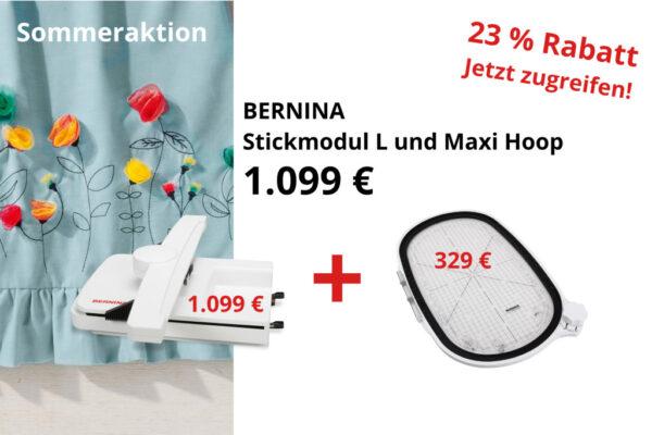 BERNINA Aktion Stickmodul und Stickrahmen